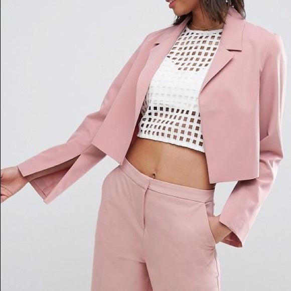 ASOS Jackets & Blazers - Pick 2 FOR $30👑 [ A S O S ] Blush Crop Blazer